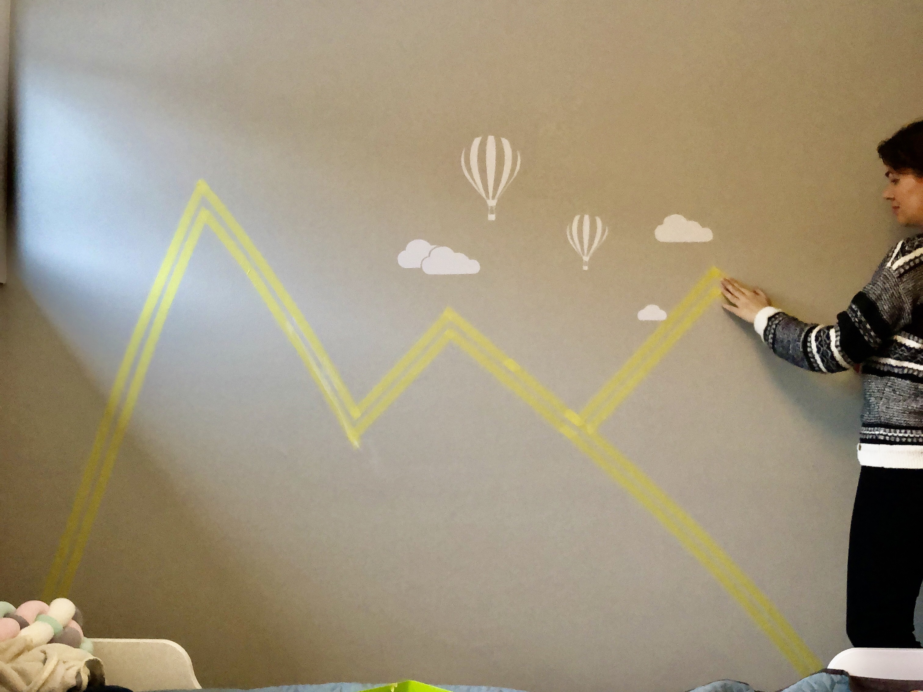 Diy Wanddeko Im Kinderzimmer Berge An Die Wand Malen Fjordliebe Der Norwegen Blog